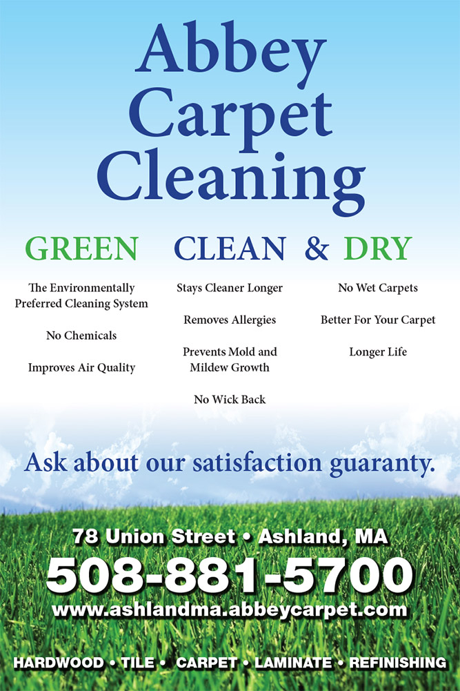 Abbey Carpet Cleaning at Abbey Carpet & Floor in Ashland, MA is a green, clean, and dry way to clean your carpet.  No chemicals, removes allergies, and gives your carpet a longer life.