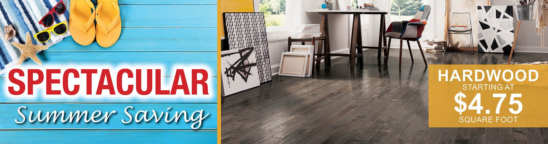 Hardwood starting at $4.75 sq.ft.  at Abbey Carpet & Floor in Ashland, MA this month only!