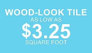 Wood-look tile as low as $3.25 sq.ft. at Abbey Carpet & Floor in Ashland, MA this month only!