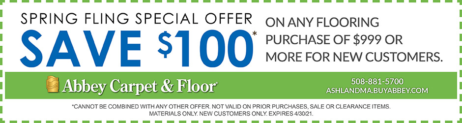 Save $100 during our Spring Fling Sale coupon