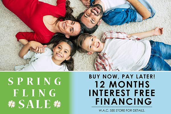 Buy now pay later during our Spring Fling sale